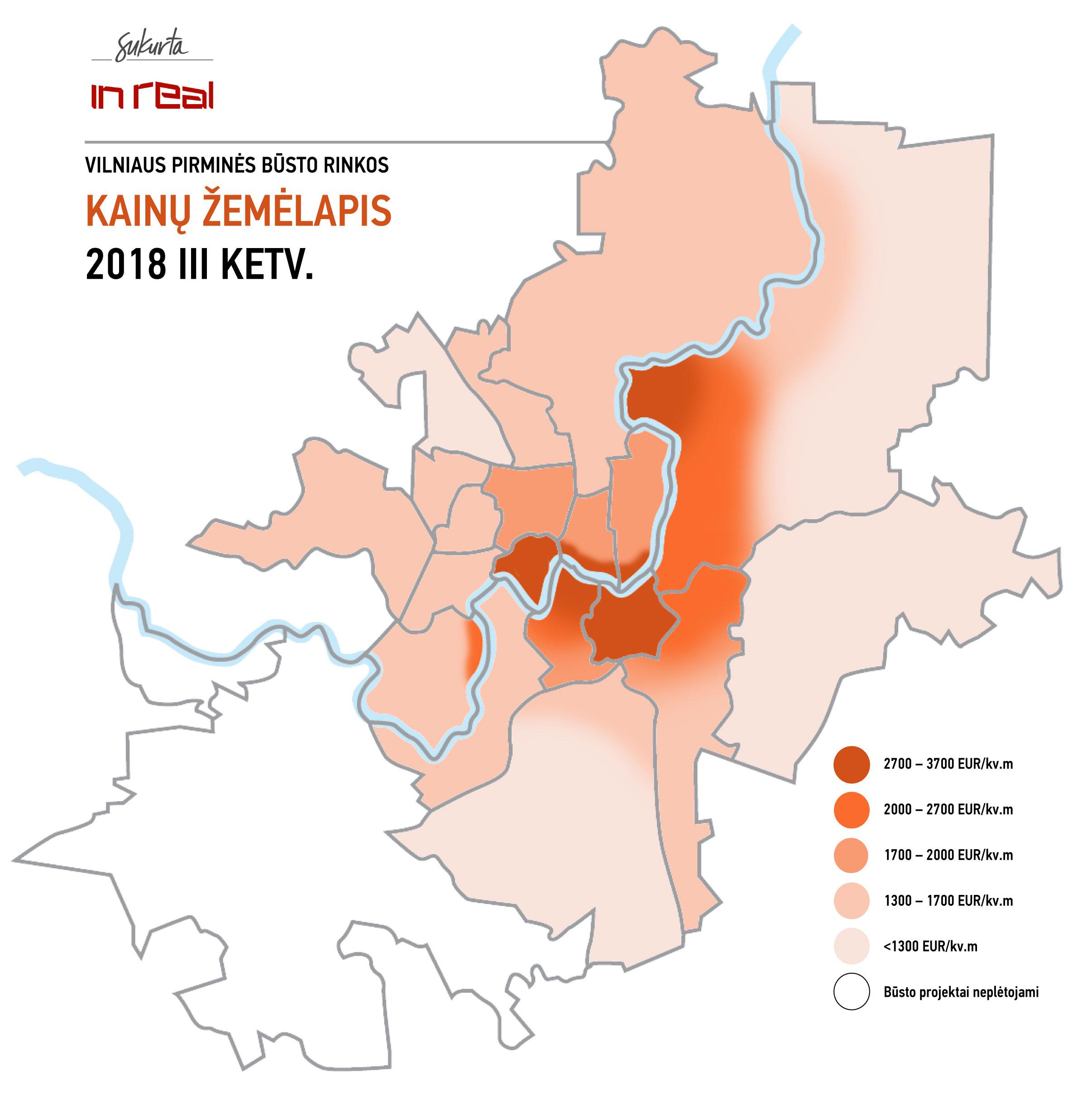 Šnipiškės ir Naujamiestis – rajonai su įvairiausia naujo būsto pasiūla
