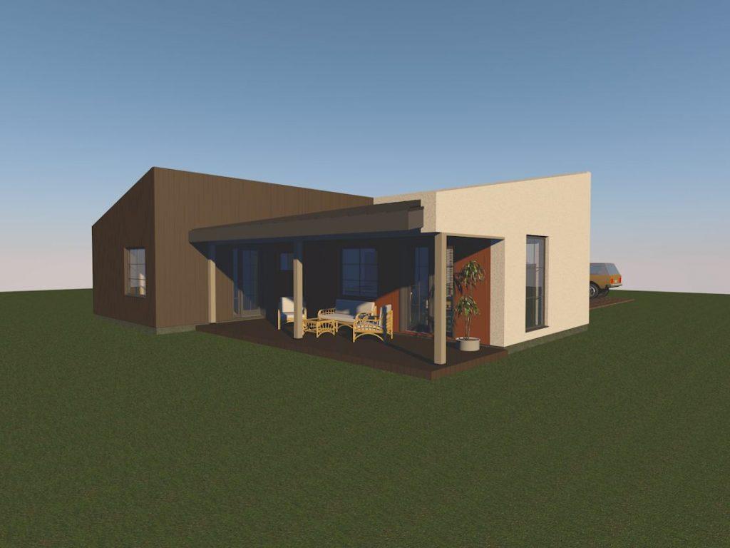 Individualus namas Utenoje (vizualizacija)
