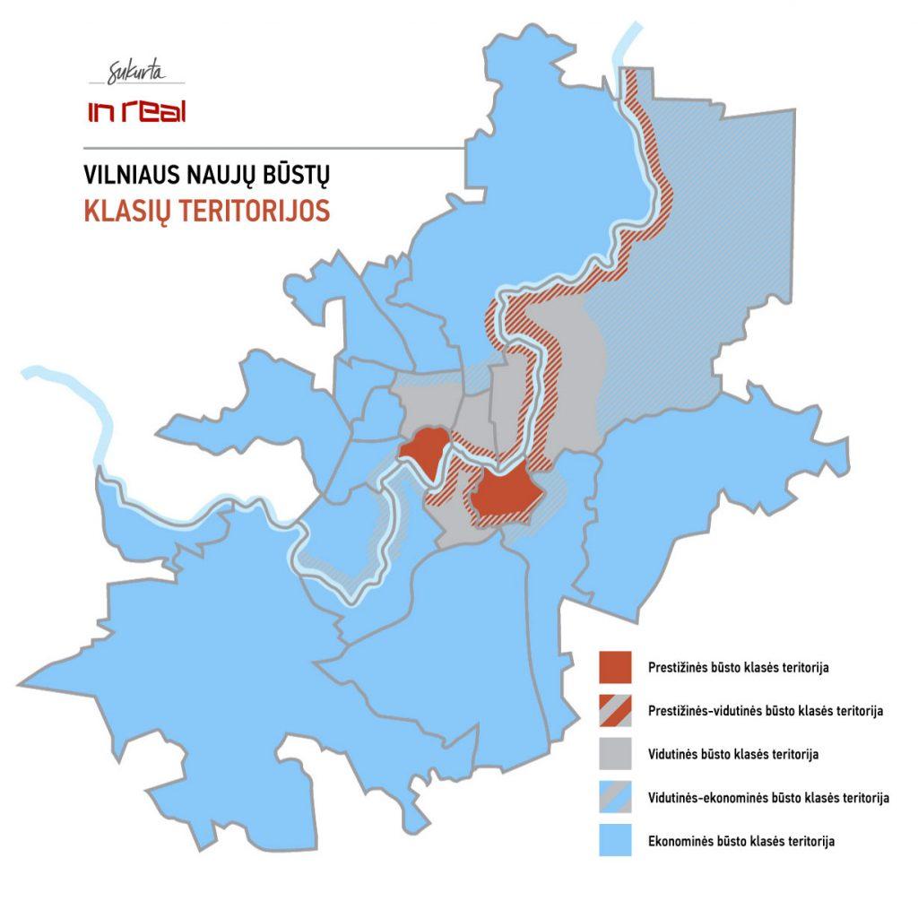 Vilniaus naujų būstų klasių teritorijos